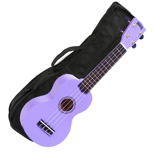 Mahalo Ukulele in Purple Rainbow Series Soprano Ukulele MR1PP